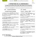 Invitation aux Entretiens de La Lendemaine 2010