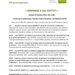 Hommage à Jean Guittet Programme.18.9.13