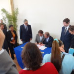 Signature de la convention à La Lendemaine